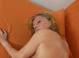 Hot fuck action finished with cum shot on Christina's tits.