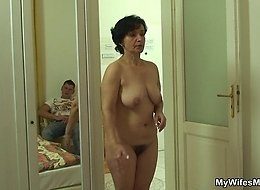 Sensual and sexy mature fucked in her hot pussy hole by his throbbing young dick meat